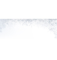 Christmas banner with crystallic snowflakes vector image