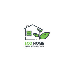 eco green home vector image