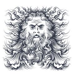 neptune head vector image vector image