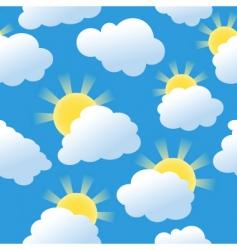 sunshine seamless vector image