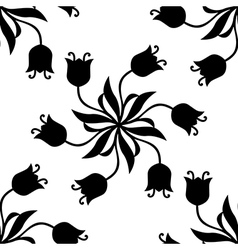 tulip pattern vector image vector image