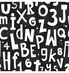 Alphabet black pattern vector image
