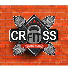 Crossfit emblem symbol vector image