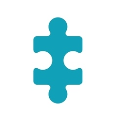 light blue piece of puzzles vector image