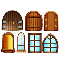 Doors and windows vector image vector image