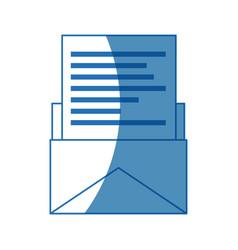 email paper envelope message postal communication vector image