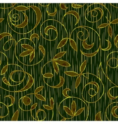 seamless floral damask pattern background vector image vector image