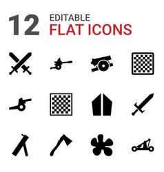 12 battle icons vector