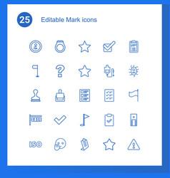 25 mark icons vector