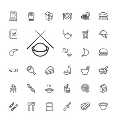33 lunch icons vector