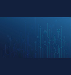 abstract lines and dots connect background vector image