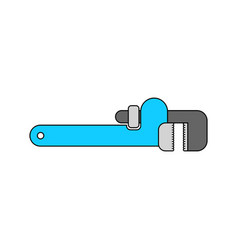 Adjustable wrench isolated tool on white vector