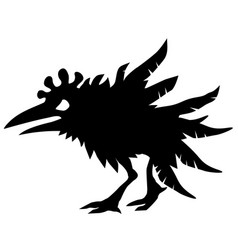 Angry chicken silhouette vector