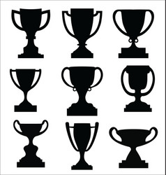 award cups and trophy icons collection vector image