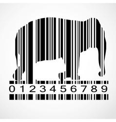 Barcode elephant image vector