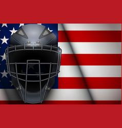 Baseball catcher mask helmet vector