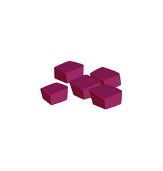 Beet root cubes composition vector