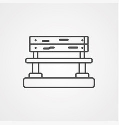 bench icon vector image