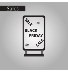Black and white style icon signboard black friday vector
