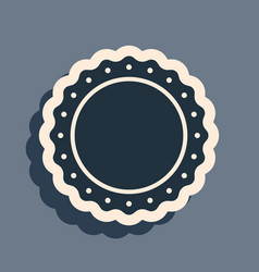 black quality emblem icon isolated on grey vector image