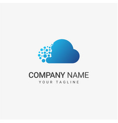 blue cloud logo template vector image
