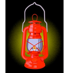 burning oil lamp vector image
