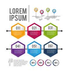 business infographic report strategy plan vector image