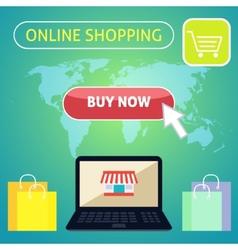 Buy now online shopping concept design vector