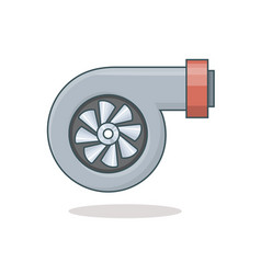 car turbine icon vector image