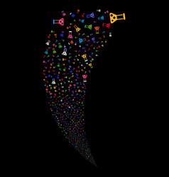 chemistry random stream vector image