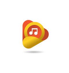 Creative media play logo vector