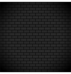 Dark brick wall vector