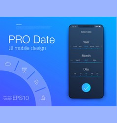 date application ui design concept vector image