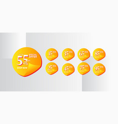 Discount label up to 55 special offer shop now vector