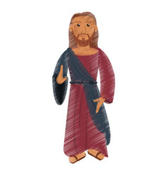 Drawing jesus christ christianity design vector