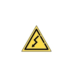 Electricity flat icon vector image