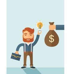 Exchange of money in idea vector image