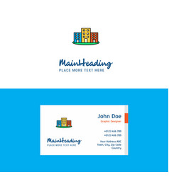 flat buildings logo and visiting card template vector image