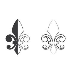 fleur de lis icon design vector image