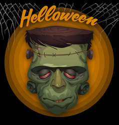 Frankenstein high detail halloween party vector