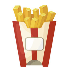 french fries icon crispy fast food snack vector image