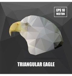 Geometric eagle on Triangle Pattern Background vector image