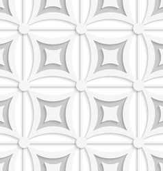 Geometric white and gray pattern with squares vector