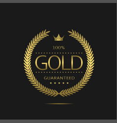 Gold label template vector