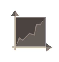 graph chart data business icon isolated bar vector image