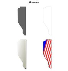 Greenlee County Arizona outline map set vector