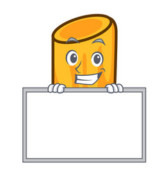 Grinning with board rigatoni character cartoon vector