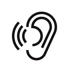 Hearing symbol vector image