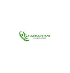 Hemp oil logo design vector