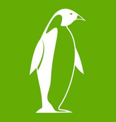 King penguin icon green vector